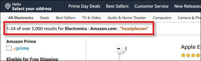 """Die Suchkriterien umfassen """"Amazon.com"""""""