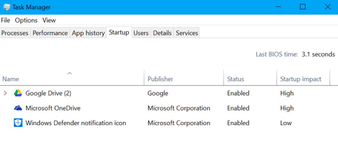 Was ist die letzte BIOS-Zeit im Windows Task-Manager?