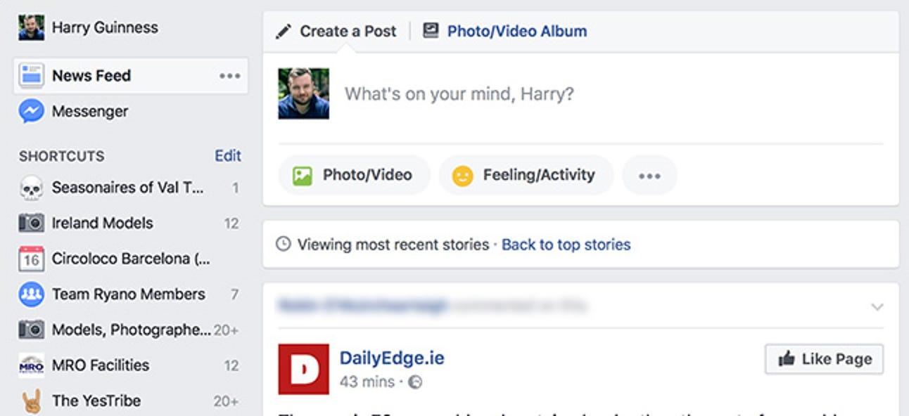 """So sortieren Sie Facebook nach """"Neueste"""" (anstelle von """"Top Stories"""")"""