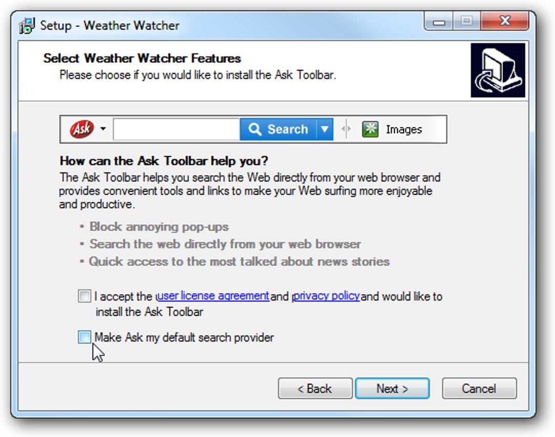 Überprüfen Sie die Wetterbedingungen in Echtzeit mit Weather Watcher
