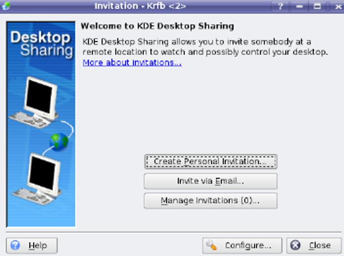 Aktivieren Sie Remote Desktop (VNC) auf Kubuntu