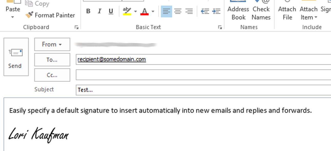 So weisen Sie eine Standardsignatur in Outlook 2013 zu