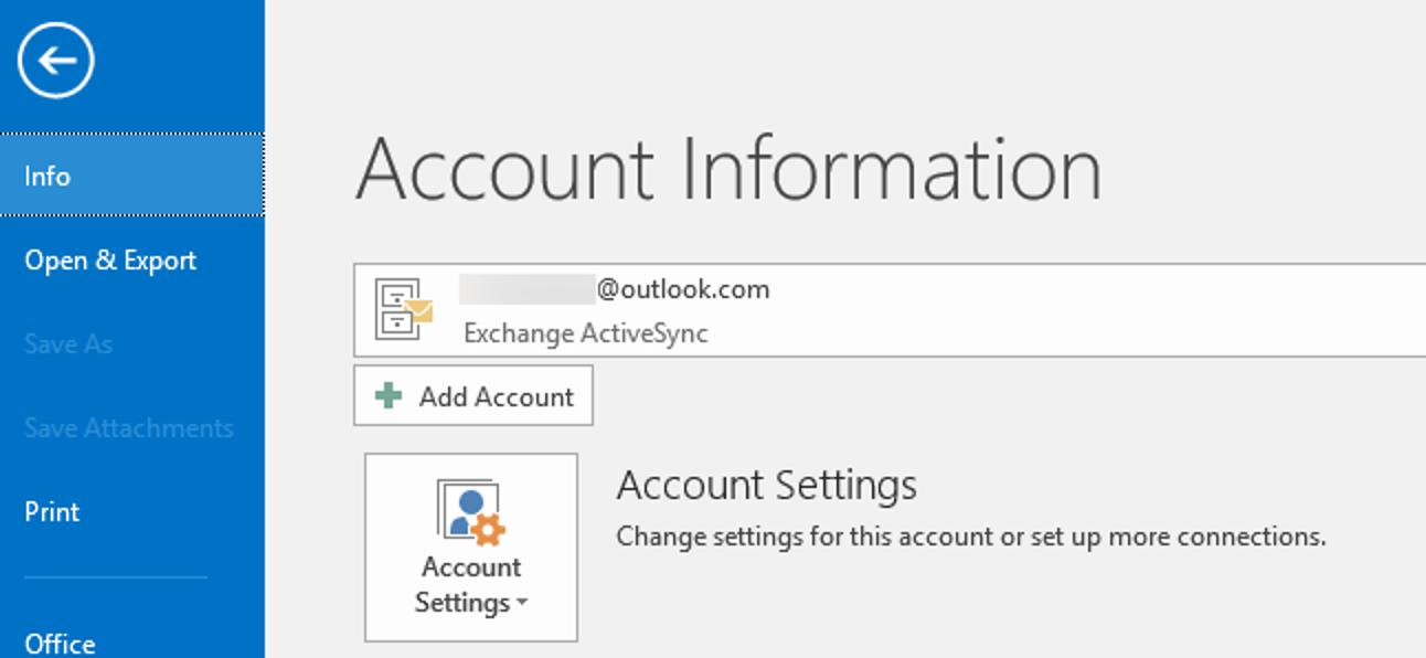 So fügen Sie Ihre Outlook.com-E-Mail-Adresse zu Microsoft Outlook hinzu