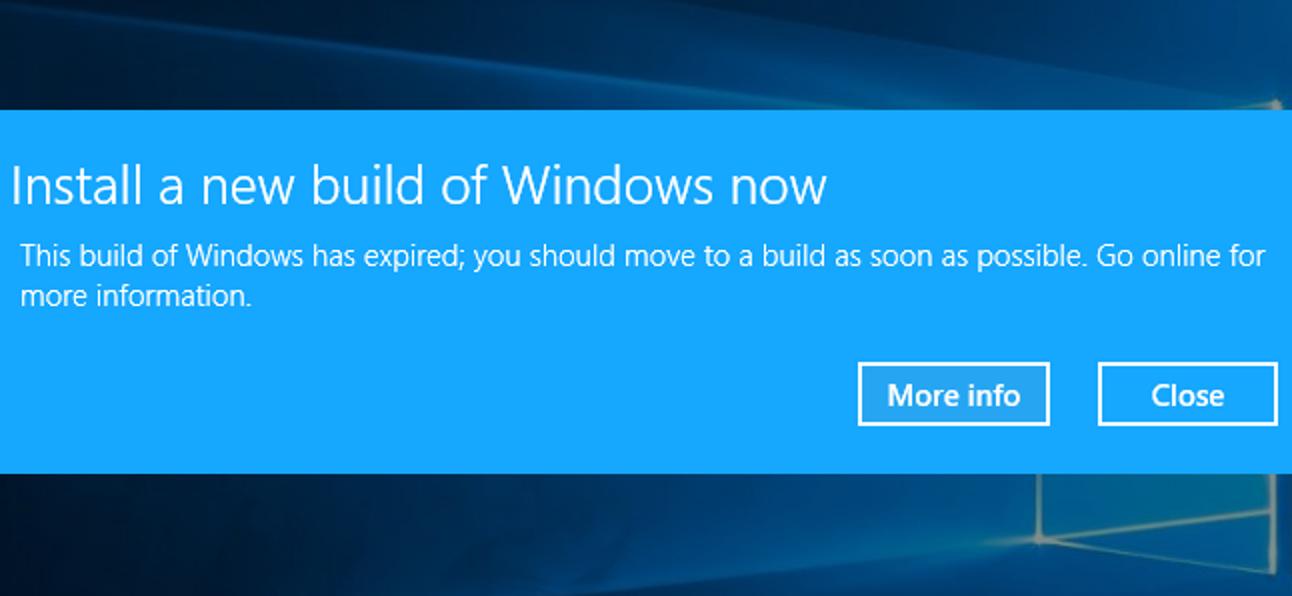 So überprüfen Sie, wann Ihr Windows 10-Build abläuft