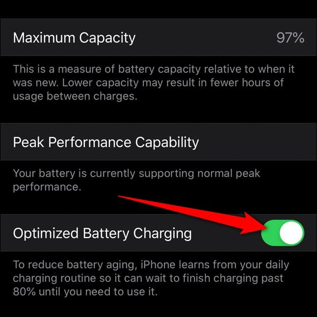 Apple iPhone Optimiertes Laden des Akkus umschalten
