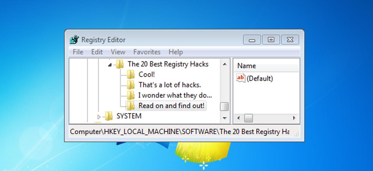 Die 20 besten Registry-Hacks zur Verbesserung von Windows