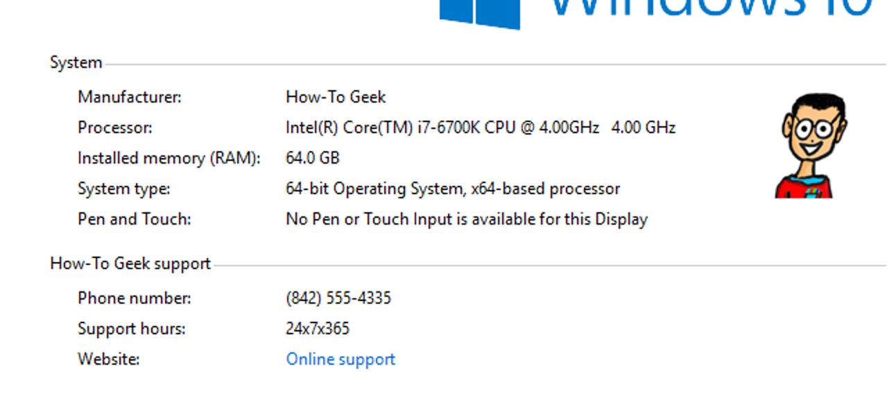 So passen Sie die Herstellerinformationen für Ihren Windows-PC an