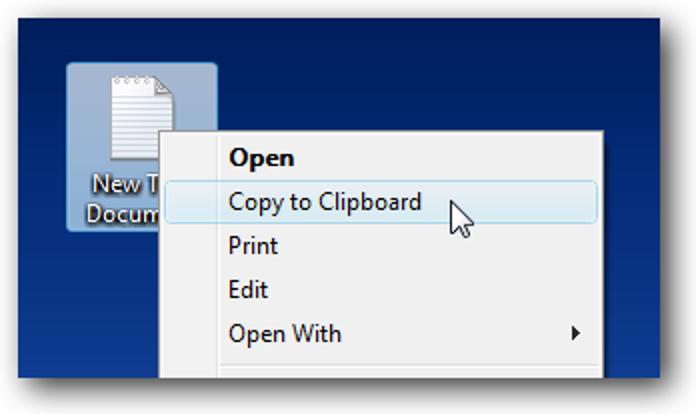 Erstellen Sie ein Kontextmenüelement zum Kopieren einer Textdatei in die Zwischenablage in Windows 7 / Vista / XP