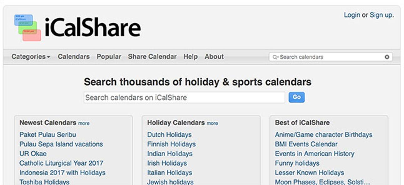 So finden und abonnieren Sie Kalender für nahezu alles mit iCalShare