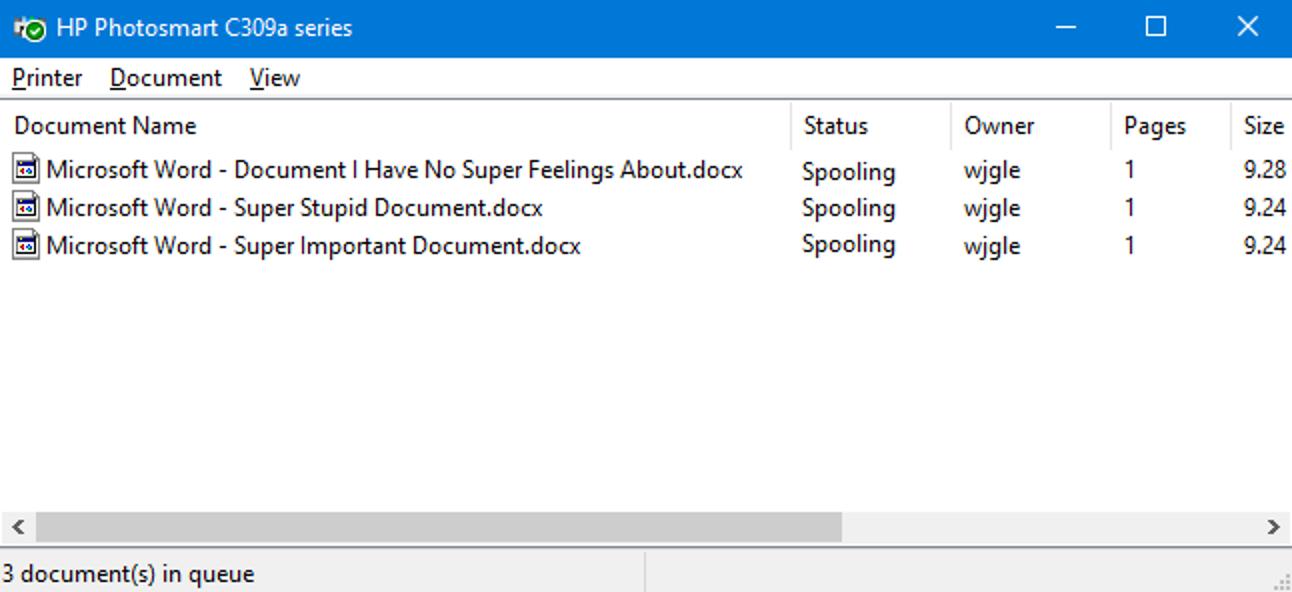 Abbrechen oder Löschen eines festsitzenden Druckauftrags in Windows