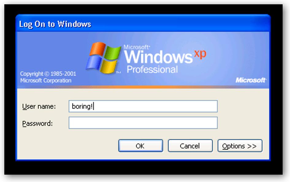 Windows XP erstellen Verwenden Sie ein benutzerdefiniertes Design für den klassischen Anmeldebildschirm