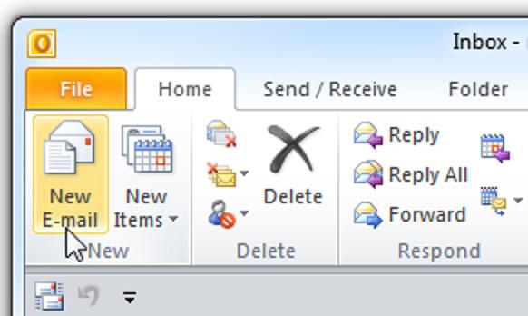 Verwendung von Bcc (Blind Carbon Copy) in Outlook 2010