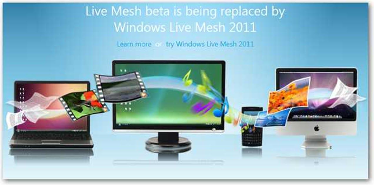 Erste Schritte mit dem neuen Windows Live Mesh 2011