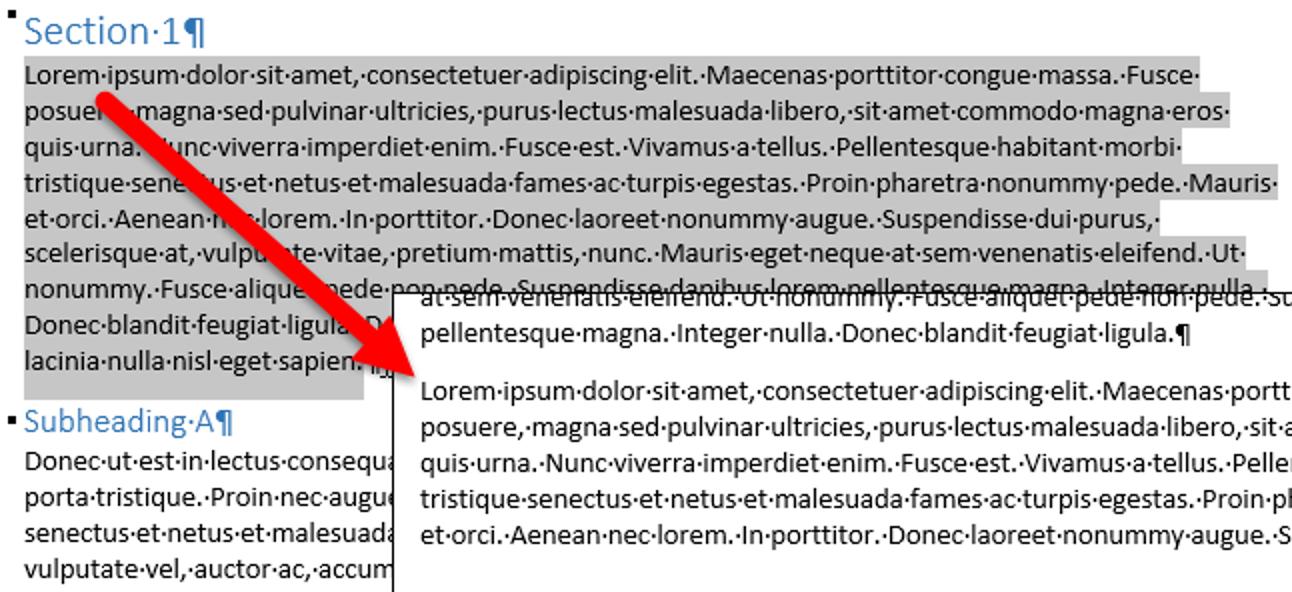 So verschieben oder kopieren Sie Inhalte in Word schnell mit F2