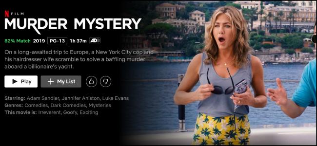 """Das """"Krimi"""" Seite auf Netflix ansehen."""