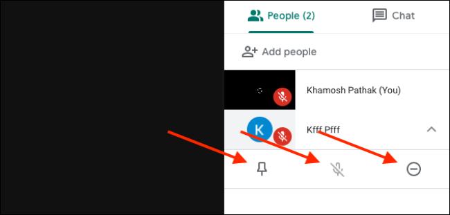 Personen und Teilnehmer, die Funktionen in Google Meet verwalten