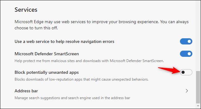 Aktivieren des Junkware-Blockers von Microsoft Edge