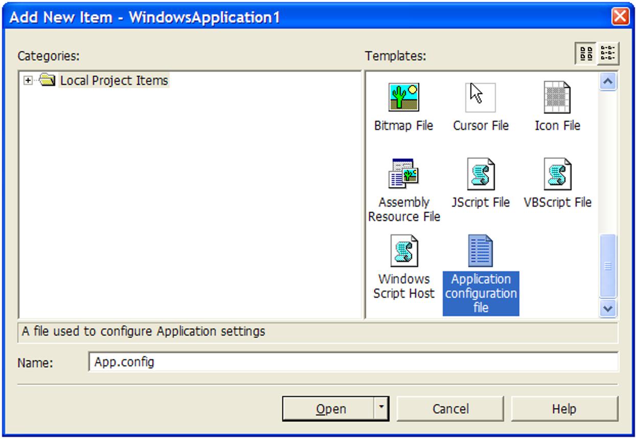 So fügen Sie Ihrer Windows Forms-Anwendung eine Konfigurationsdatei hinzu