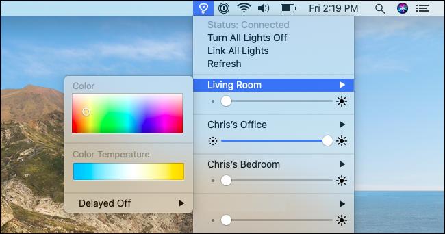 Steuern von Lichtern und Farben mit Colors for Hue.