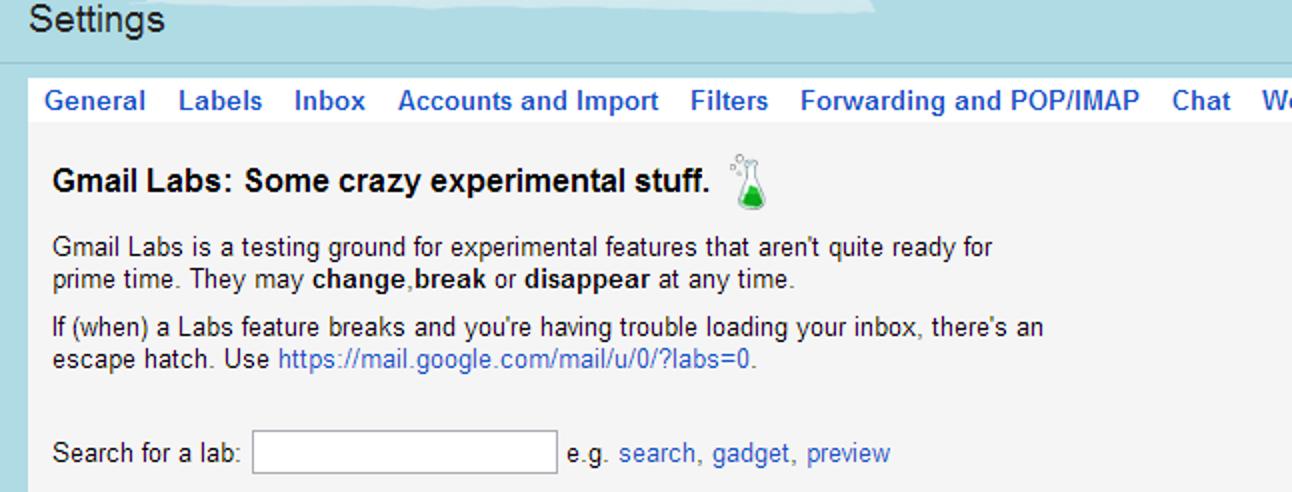 Pimpen Sie Ihren Posteingang, indem Sie die Labs-Funktionen in Google Mail aktivieren