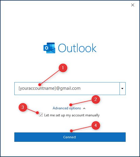 """Das Textfeld, mit dem Sie Ihre E-Mail-Adresse eingeben können """"Erweiterte Optionen"""" hervorgehoben."""