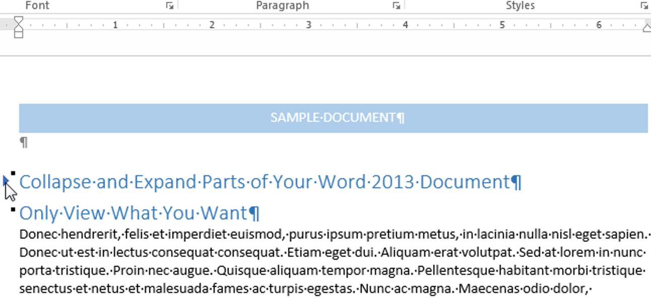 So reduzieren und erweitern Sie Teile Ihres Dokuments in Word