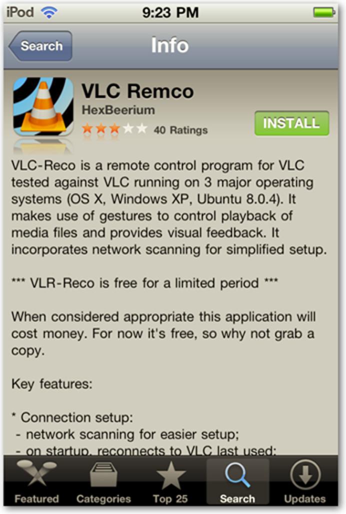 Verwenden Sie Ihr iPhone oder Ihren iPod Touch als Fernbedienung für VLC