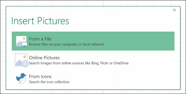 """Klicken """"Aus einer Datei"""" um ein Bild von Ihrem Computer einzufügen."""
