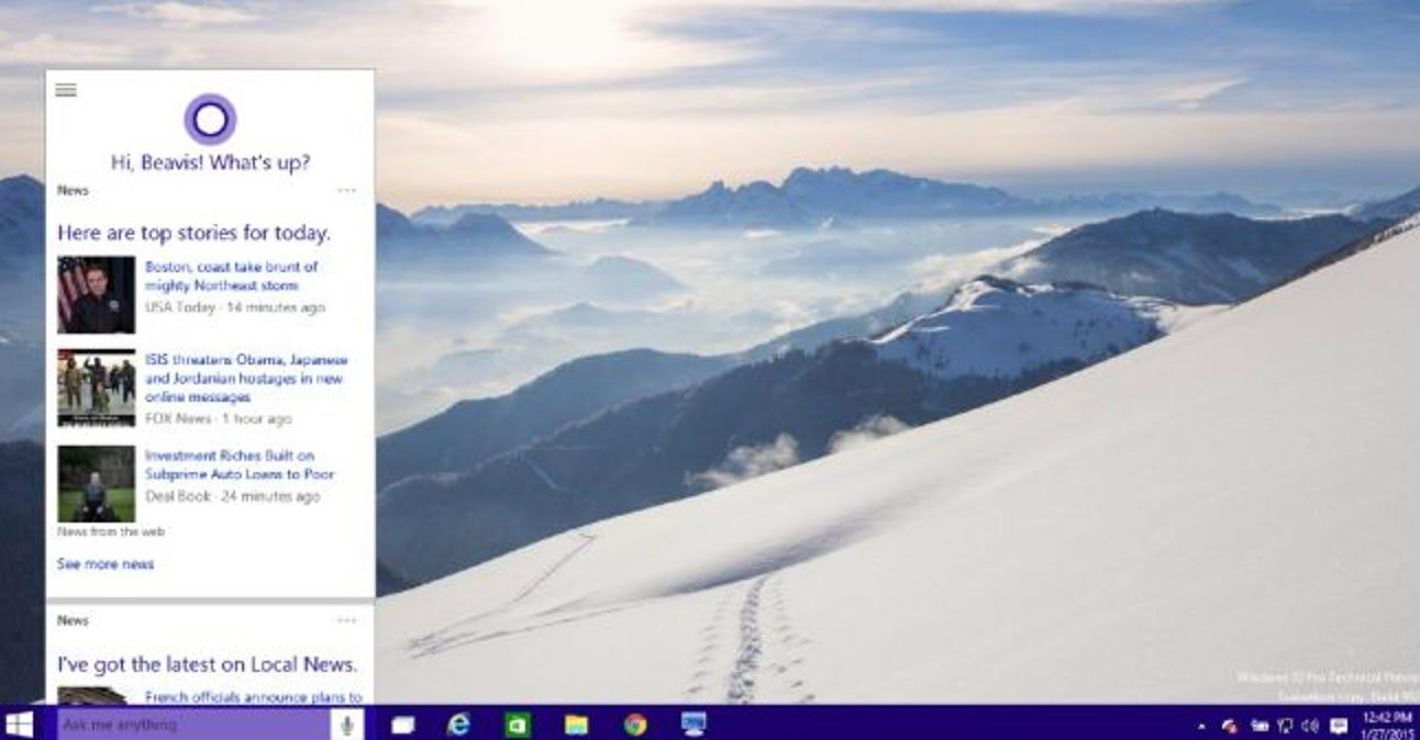 So blenden Sie das Cortana-Suchfeld in der Windows 10-Taskleiste aus
