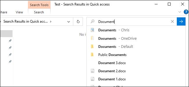Die neue Online-Dateisuche des Datei-Explorers zeigt OneDrive-Dateien.