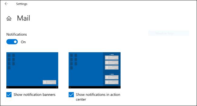 Benachrichtigungsdemonstrationsgrafiken unter Windows 10