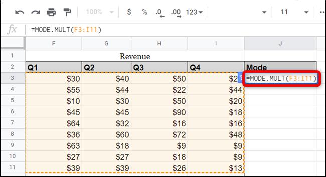 Verwenden Sie stattdessen die Funktion MODE.MULT, um mehr als einen Modus anzuzeigen, der möglicherweise in einem Dataset vorhanden ist.