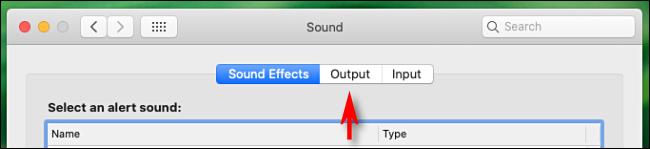 Klicken Sie in den Soundeinstellungen auf dem Mac auf die Registerkarte Ausgabe