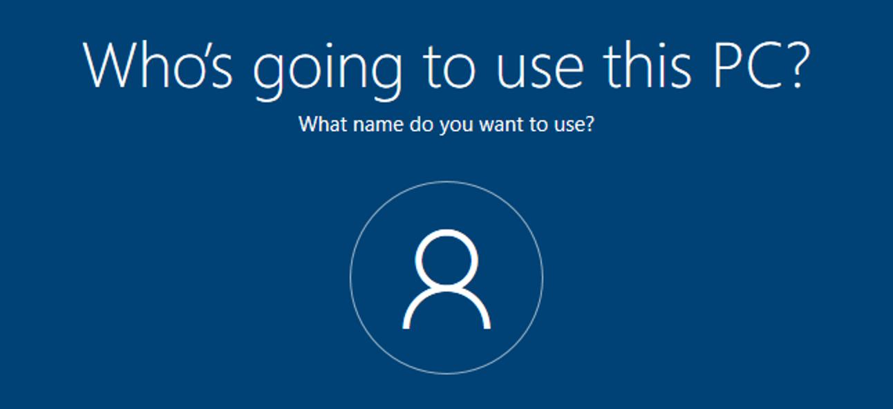 So erstellen Sie ein lokales Konto beim Einrichten von Windows 10