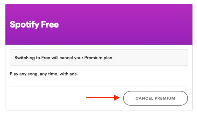 """Klicken """"Premium abbrechen."""""""