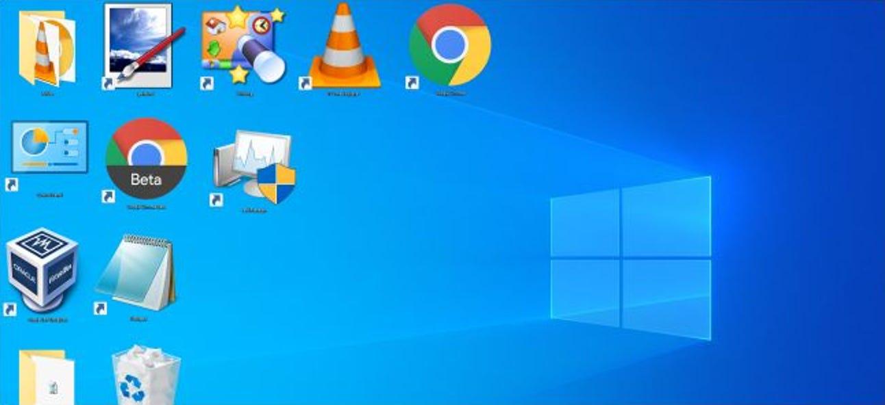 So machen Sie Windows Desktop-Symbole besonders groß oder besonders klein