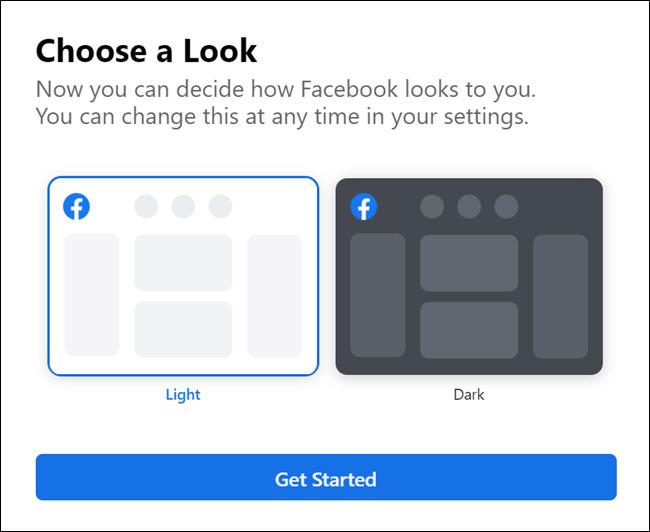 Neue Facebook Dark Theme Option