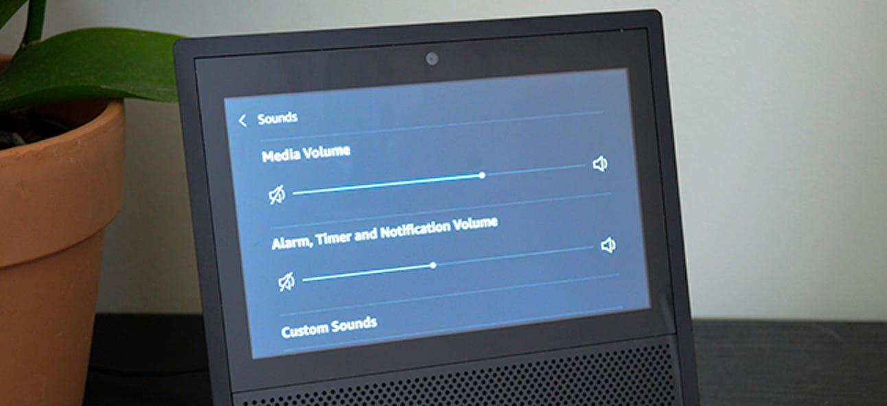 So ändern Sie die Helligkeit und die Alarmlautstärke in Ihrer Echo-Show