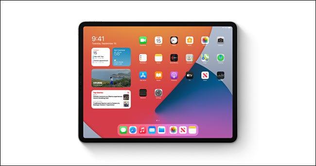 Ein Apple iPad mit iPadOS 14