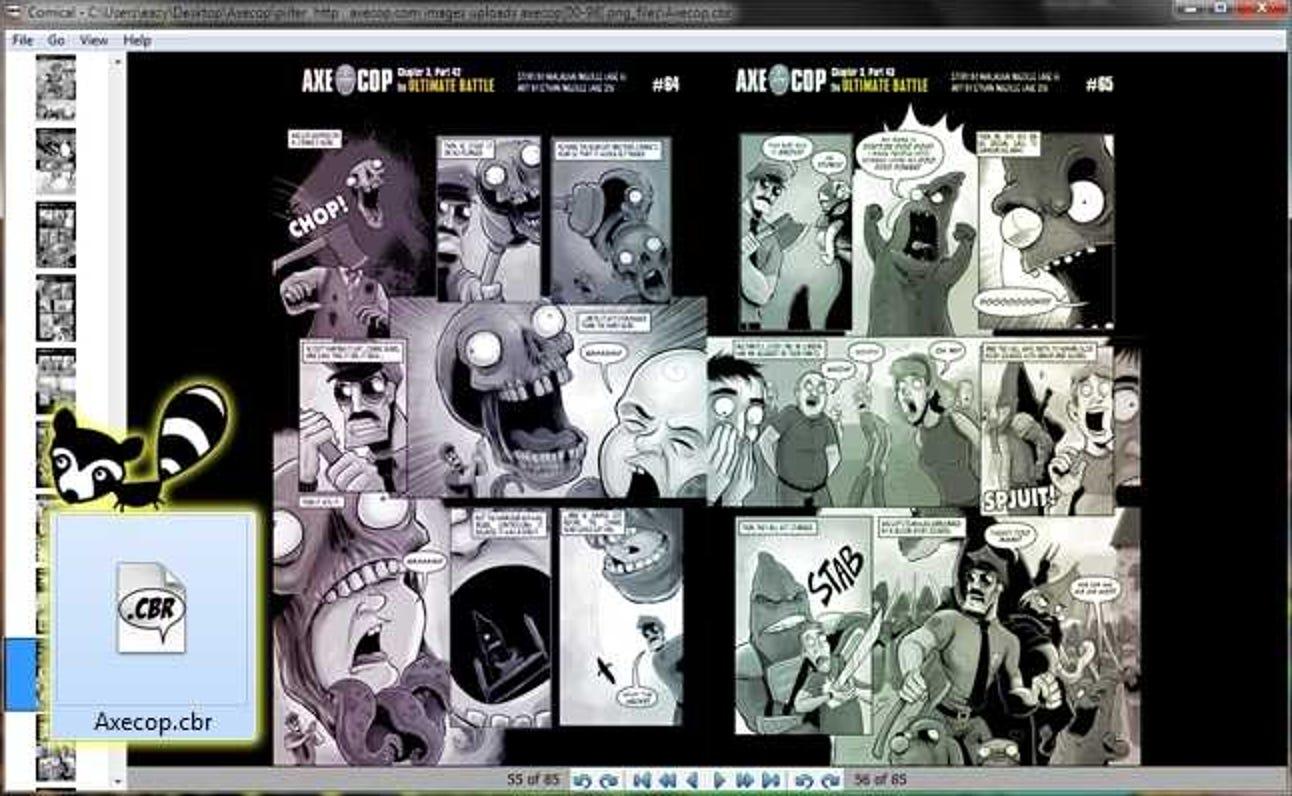 So lesen Sie Webcomics offline in einem Comic-Reader