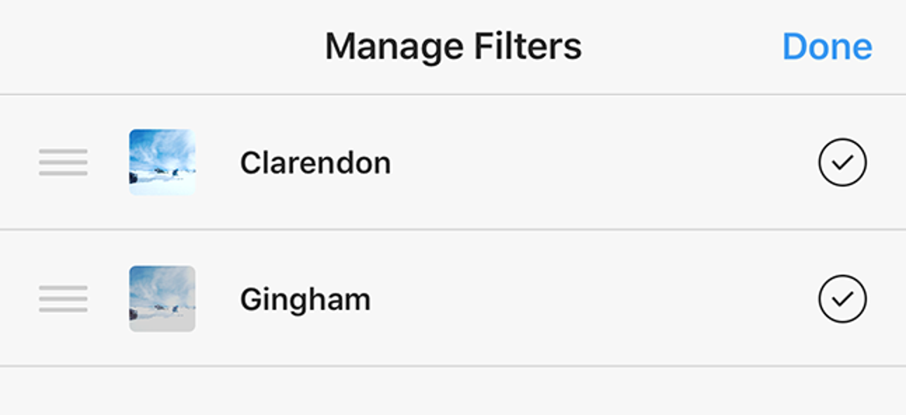 So ordnen Sie Ihre Instagram-Filter neu an (und verstecken die, die Sie nicht mögen)