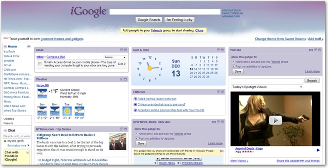 Exportieren Sie Ihre iGoogle-Startseite in ein anderes Konto