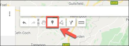 Klicken Sie auf Marker hinzufügen, um einen benutzerdefinierten Markierungspunkt im Google Maps-Karteneditor hinzuzufügen