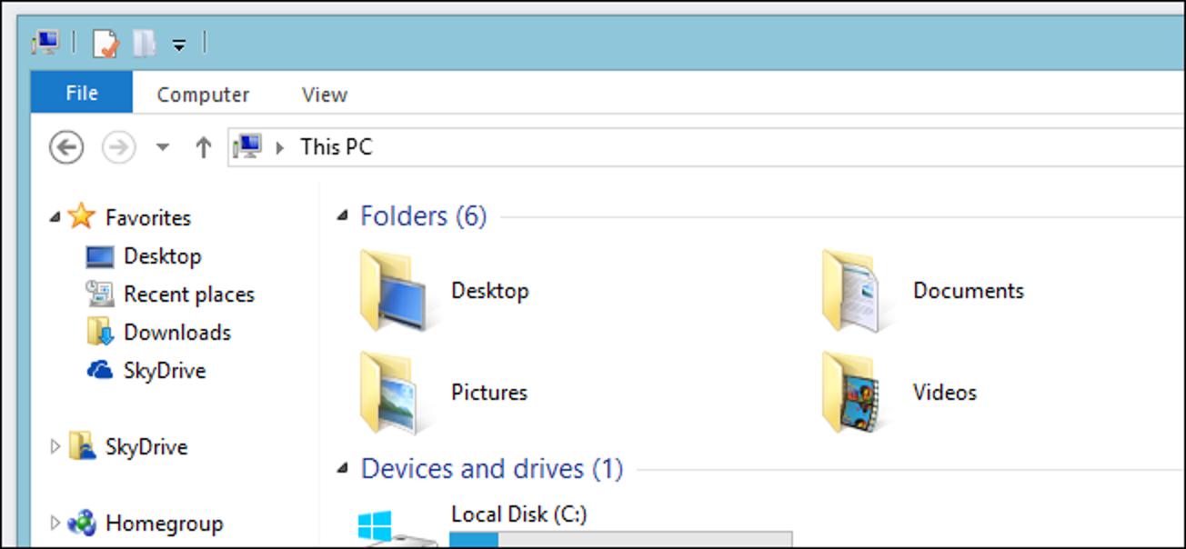 """So entfernen Sie die """"Ordner"""" von meinem Computer in Windows 8.1"""