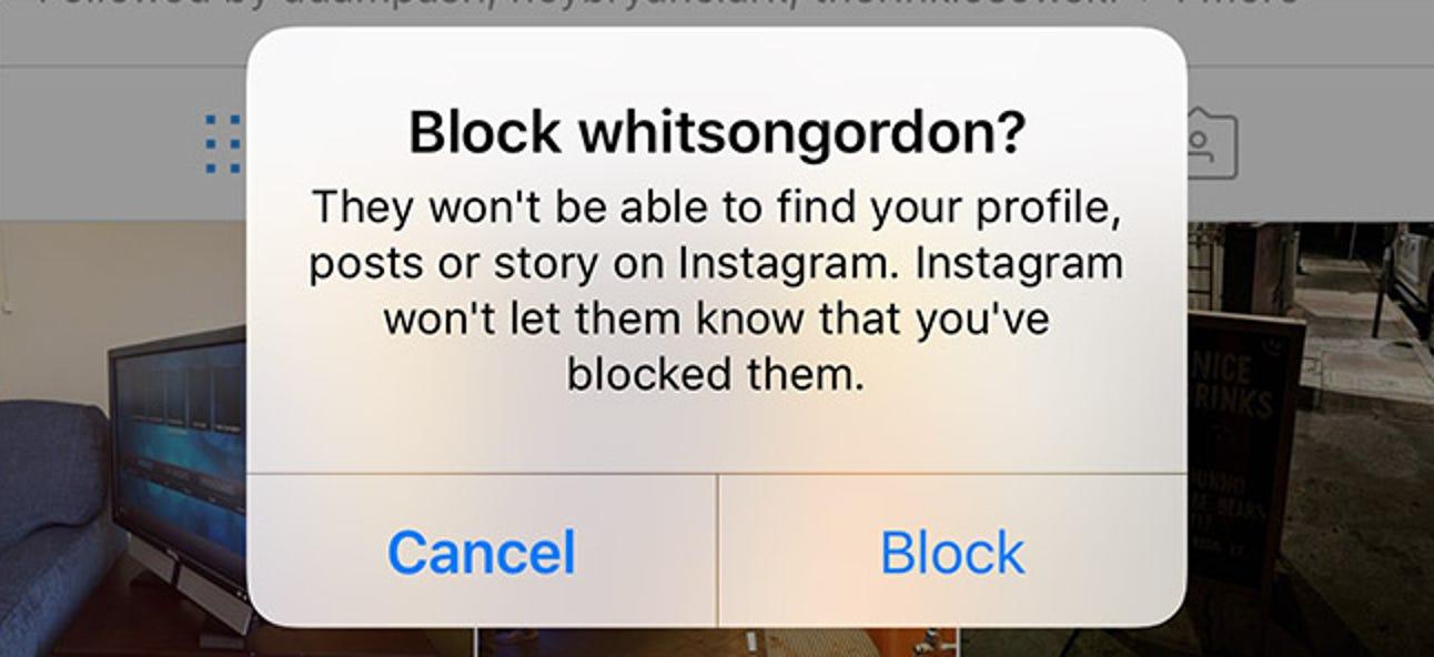 So blockieren Sie jemanden auf Instagram