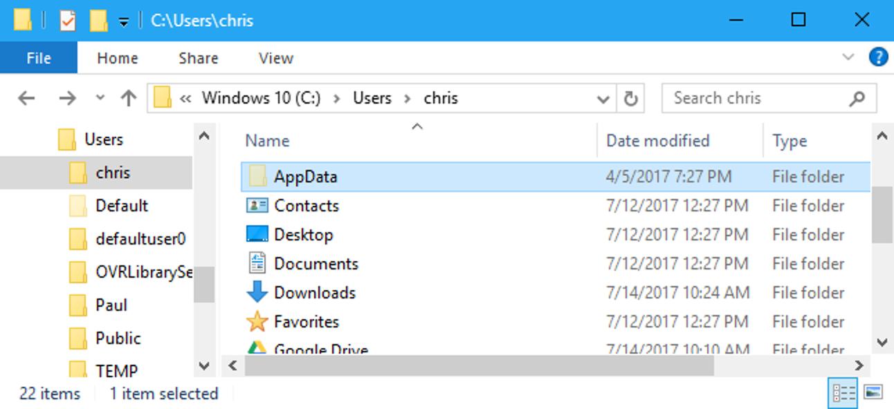 Was ist der AppData-Ordner in Windows?