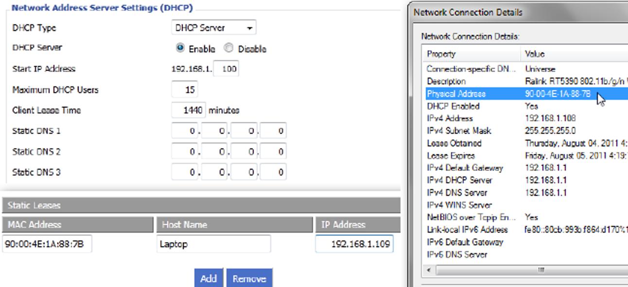 So richten Sie statisches DHCP ein, damit sich die IP-Adresse Ihres Computers nicht ändert