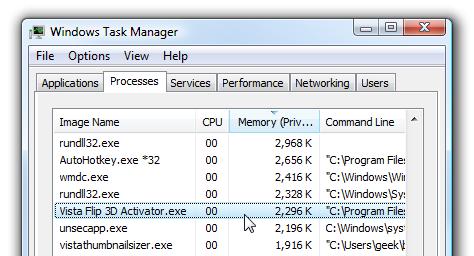 Task-Manager Flip 3D Activator