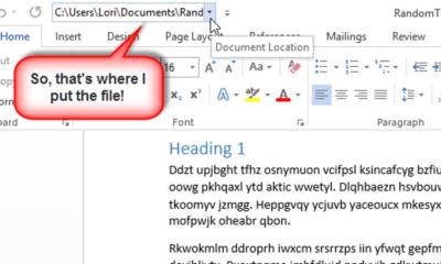 So zeigen Sie den Speicherort einer Datei in der Symbolleiste für den Schnellzugriff in Office 2013 an