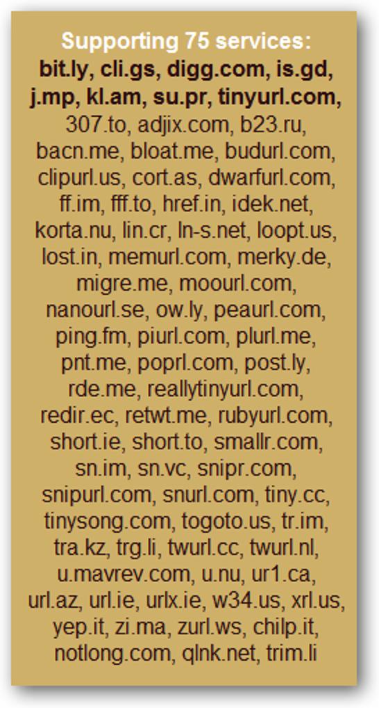 """Sehen Sie in Ihrem Lieblingsbrowser, wo verkürzte URLs """"verlinken"""""""